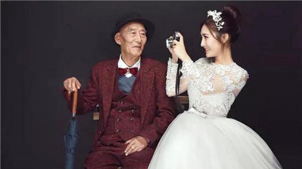 ảnh cưới,ông nội,cưới xin,đột quỵ,Trung Quốc