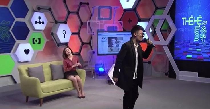 Hiện tượng mạng Hoa Vinh hát live trực tiếp trên VTV