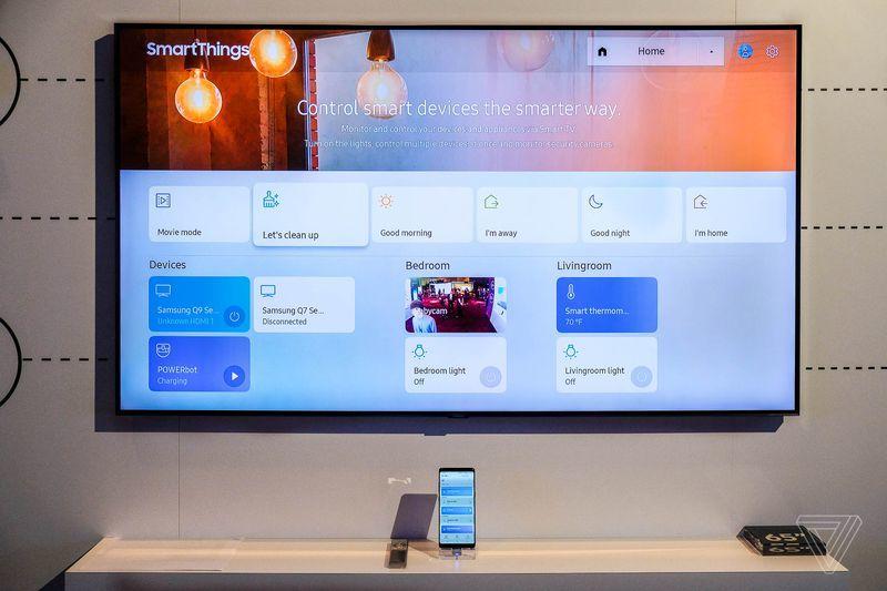 """TV QLED 4K 2018 có thể """"ẩn mình"""" trên tường, quản lý nhà thông minh"""