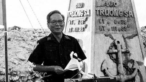Lời thề của Đại tướng Lê Đức Anh ở Trường Sa năm 1988