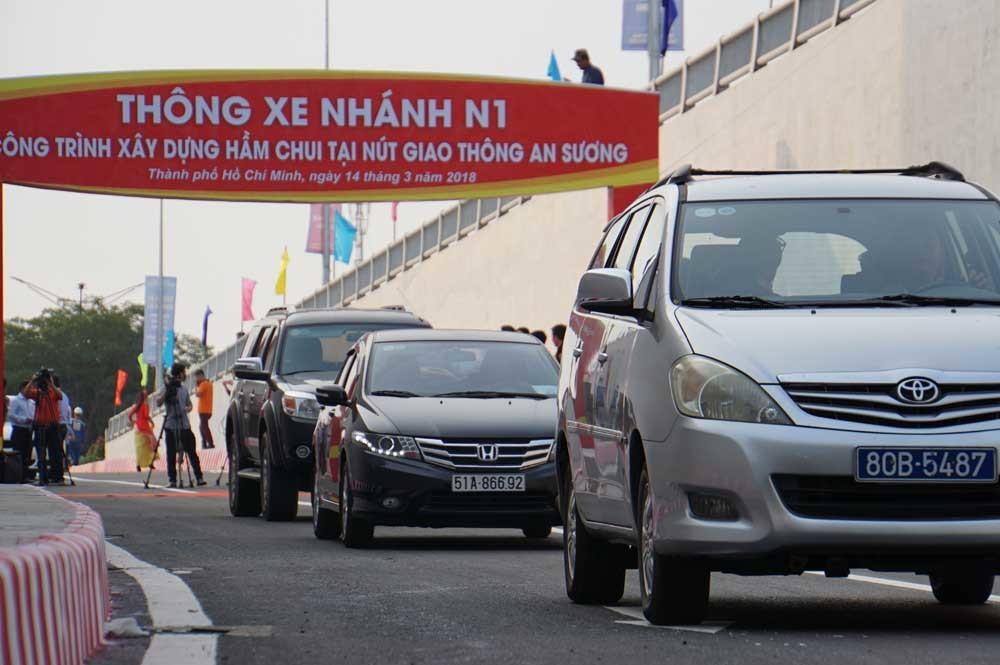 Thông nhánh hầm chui nút giao 3 tầng đầu tiên ở Sài Gòn