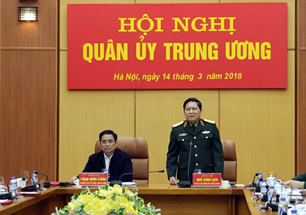 quân ủy Trung ương,đại tướng Ngô Xuân Lịch,Bộ Quốc phòng,Phạm Minh Chính