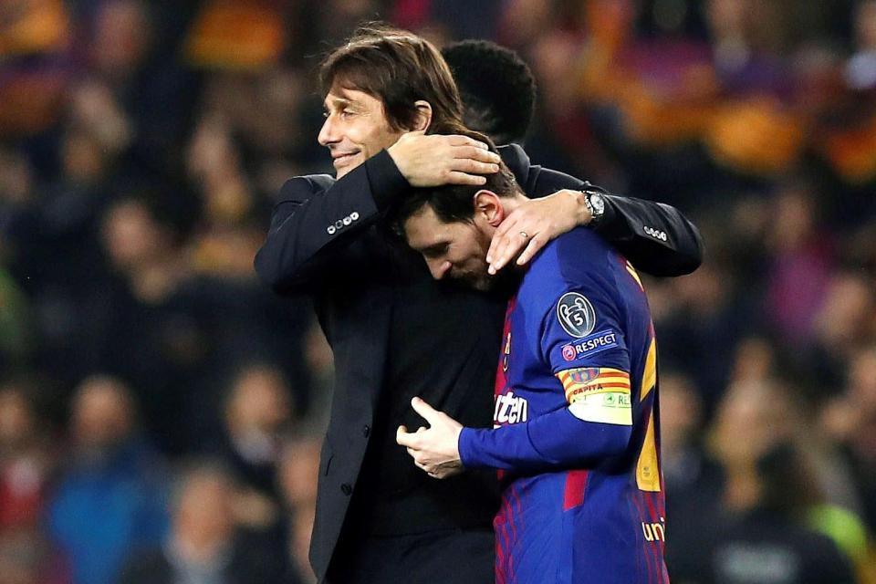 Chelsea,Barca,Conte,Messi