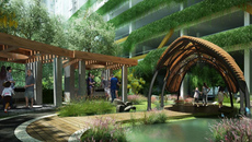 Chung cư khác biệt nhờ mảng xanh, thiết kế