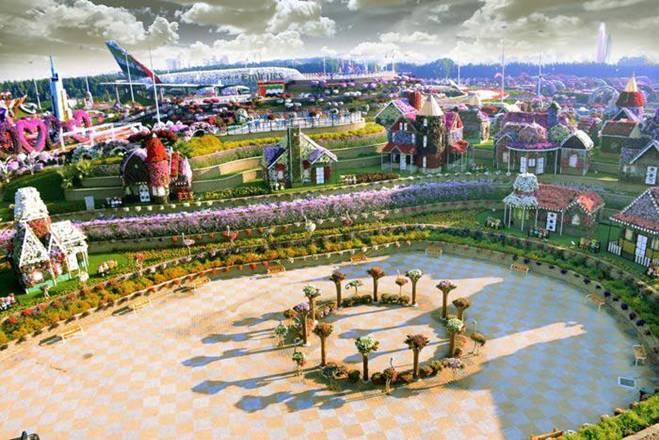 vườn hoa tự nhiên khổng lồ ở Dubai,du lịch Dubai,công trình xanh