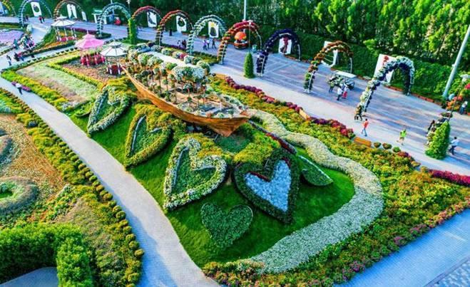 Sửng sốt trước độ choáng ngợp của vườn hoa tự nhiên khổng lồ đẹp nhất thế giới ở Dubai