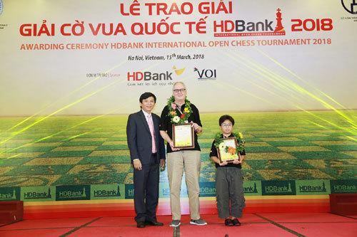 Đại kiện tướng Argentina vô địch giải cờ vua quốc tế HDBank 2018