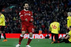 """Salah """"nổ"""" 4 bàn cực đỉnh, Liverpool đè bẹp Watford"""