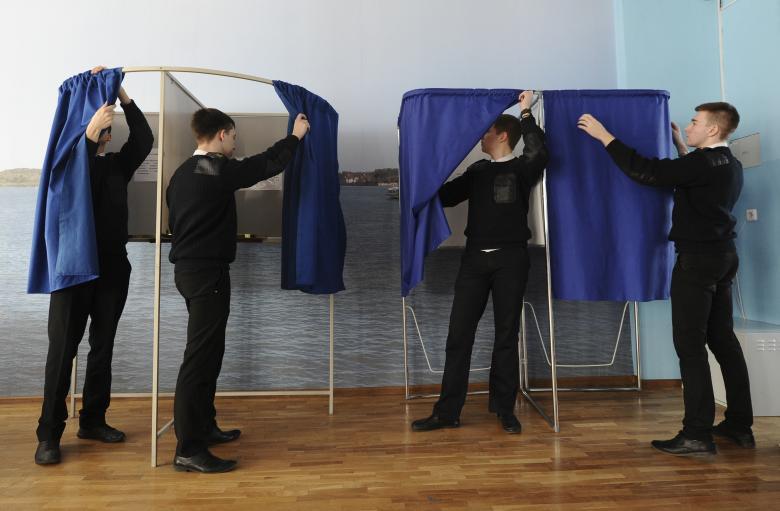 Cử tri Nga đi bỏ phiếu theo 11 múi giờ