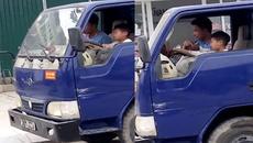 Cho bé 10 tuổi lái xe tải, phạt ông chú ở Thanh Hóa 8 triệu