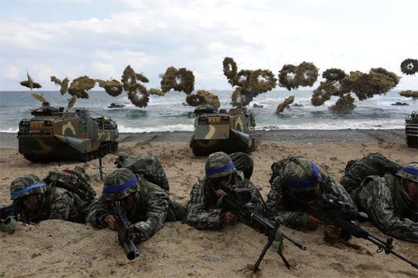 Tập trận chung Mỹ - Hàn,Tổng thống Trump,Kim Jong Un,tình hình Triều Tiên,Triều Tiên,Mỹ