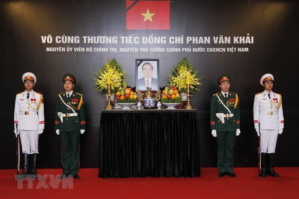 Lễ viếng nguyên Thủ tướng Phan Văn Khải tại Trung tâm Hội nghị Quốc tế (Hà Nội) Ảnh: Vietnam+
