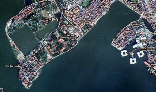 Đất nhà phố Hồ Tây: 900 triệu/m2