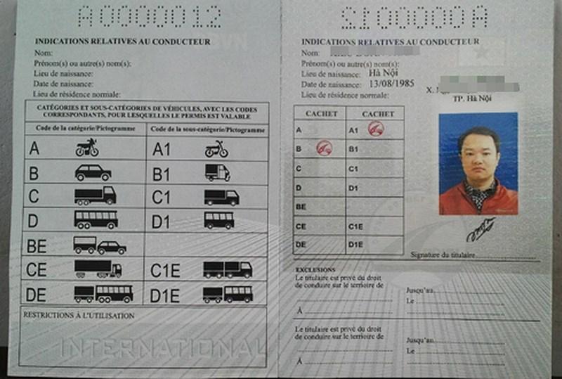 giấy phép lái xe,Luật Giao thông đường bộ,cảnh sát giao thông
