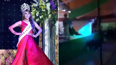 Thí sinh chuyển giới đẩy đối thủ ngã vì không trở thành Hoa hậu