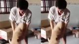 Người đàn ông khóc nức nở vì gặp lại chú chó sau nhiều ngày xa cách