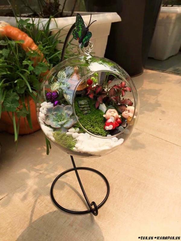 Khu vườn bình yên ngập sắc hoa, chim hót ríu rít của mẹ 8x giữa lòng Hà Nội nhộn nhịp