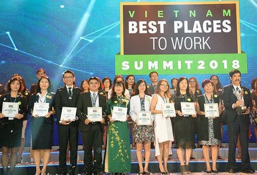 Vingroup chiếm ưu thế trong Top 100 nơi làm việc tốt nhất VN