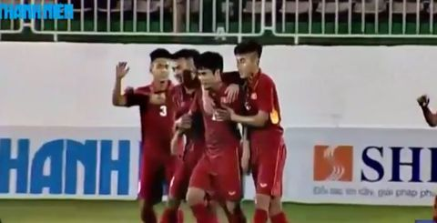 U19 Việt Nam 1-0 U19 Chonburi: Tiến Anh mở tỷ số