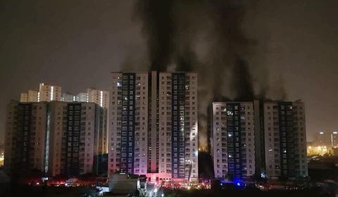 cháy chung cư cao cấp ở Sài Gòn