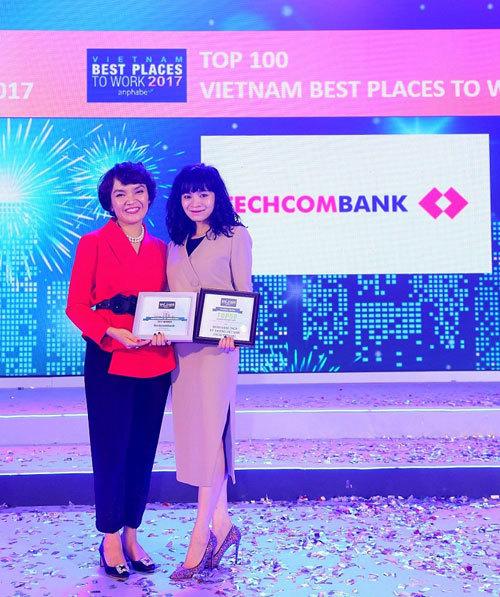 Techcombank tăng bậc trong Top 100 nơi làm việc tốt nhất VN