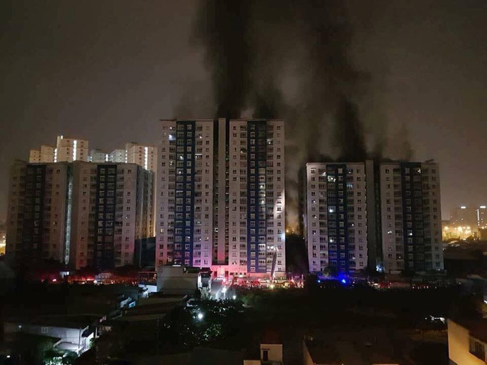 Chung cư cao cấp,Chung cư Carina Plaza,Phòng cháy chữa cháy,Cháy chung cư