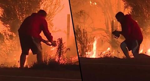 Trong vụ hỏa hoạn, ta lại thấy những vị anh hùng như này