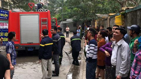 Cháy chung cư ở Nghệ An