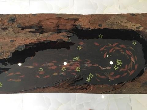 Tranh cá chép gỗ 1 tỷ, tranh ngọc tạc 9 con rồng châu Á