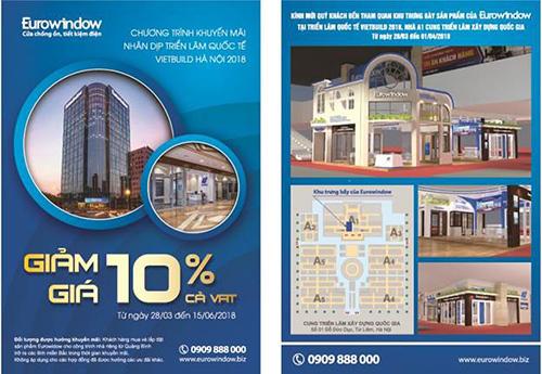 Eurowindow mang đến Vietbuild Hà Nội nhiều sản phẩm cửa thông minh