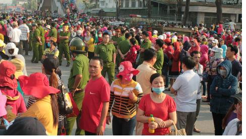 công nhân Pouchen Việt Nam đình công