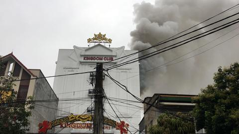 Cháy quán Karaoke ở Hà Tĩnh