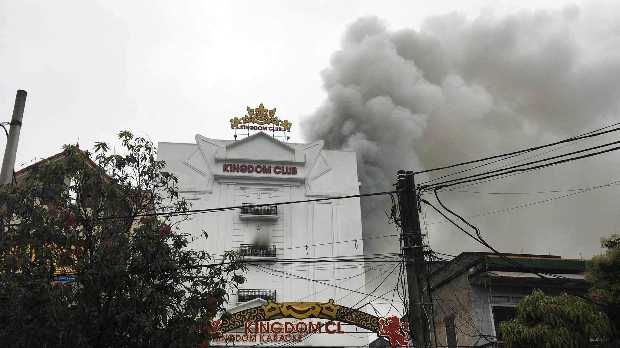 cháy lớn,cháy quán karaoke,Hà Tĩnh,phòng cháy chữa cháy