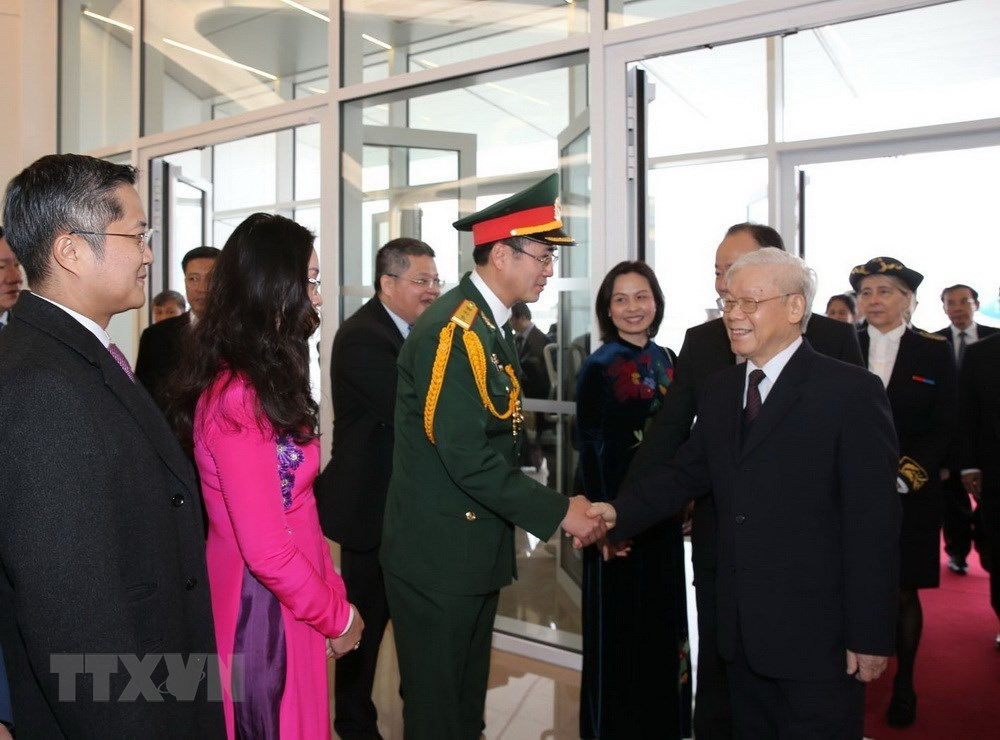 Hình ảnh chuyến thăm CH Pháp của Tổng bí thư