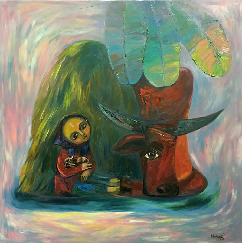 Trở về tuổi thơ với những bức tranh ngập tràn hạnh phúc