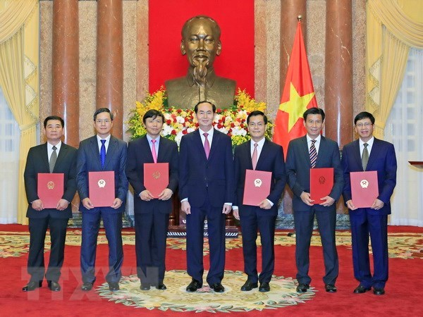 Chủ tịch nước trao Quyết định bổ nhiệm 6 đại sứ