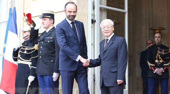 Tổng bí thư hội kiến Thủ tướng Pháp Édouard Philippe