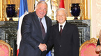 Tổng bí thư hội kiến Chủ tịch Thượng viện Pháp