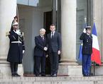 Hình ảnh Tổng thống Pháp đón, hội đàm với Tổng bí thư