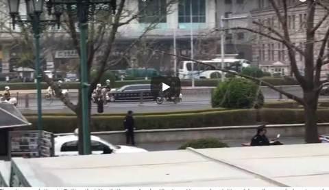 Đoàn xe hộ tống Jong Un