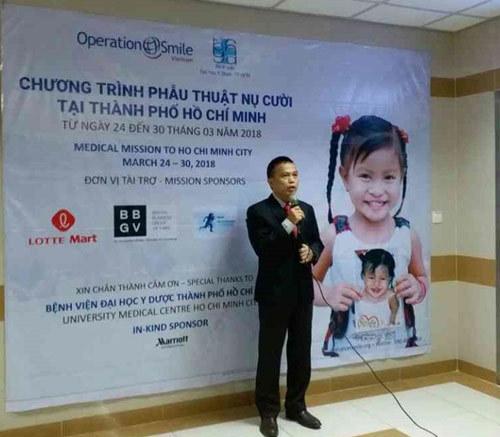 Phẫu thuật miễn phí cho 100 trẻ dị tật hàm mặt