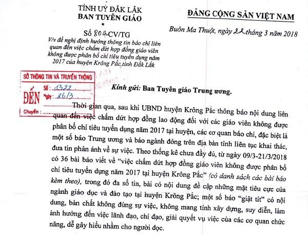 Đắk Lắk đề nghị dừng đưa tin vụ 500 giáo viên mất việc