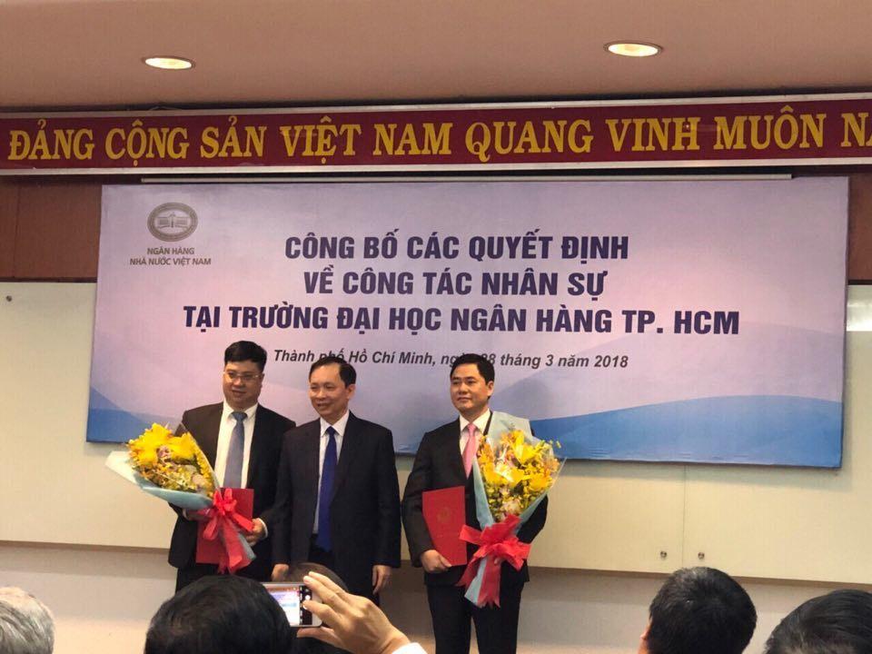 Bổ nhiệm 2 cán bộ làm lãnh đạo Trường ĐH Ngân hàng TP.HCM