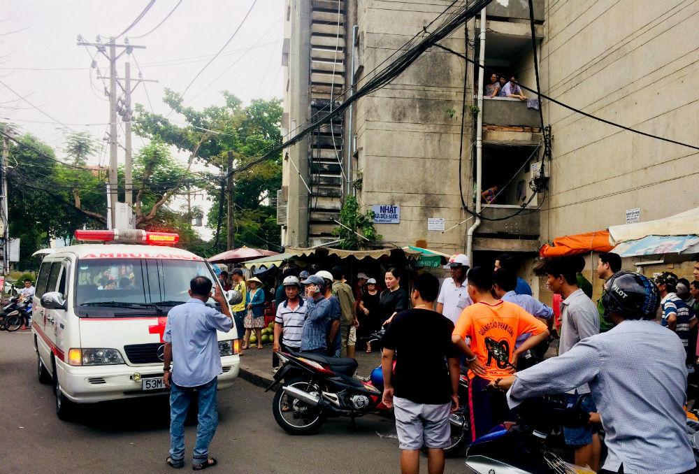 chung cư,rơi chung cư,Sài Gòn,tử vong