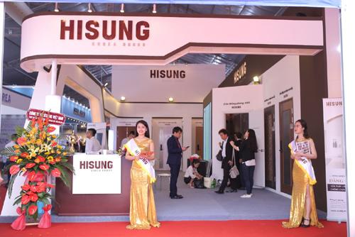 Cửa công nghệ Hisung Door siêu hiện đại tại Vietbuild 2018