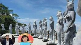 Nữ giám đốc Sở lý giải mặc quần cho tượng 12 con giáp