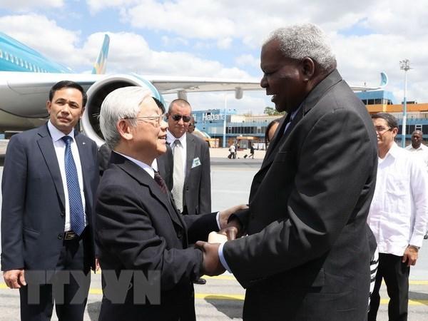 Tổng bí thư bắt đầu thăm cấp Nhà nước Cộng hòa Cuba