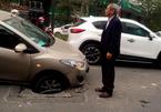 Sập hố ga, xế hộp mắc cạn trên phố Hà Nội