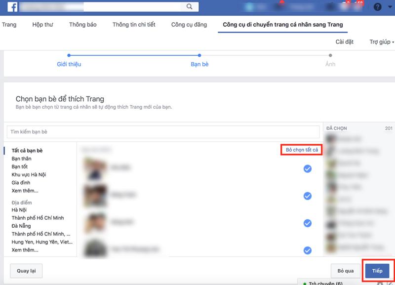 moi like trang ca nhan Facebook