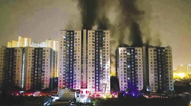 cháy chung cư,chung cư caria,cháy chung cư caria